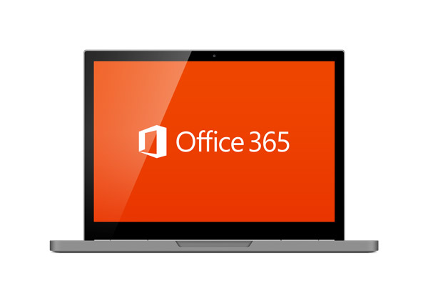 computer with office 365 hosting
